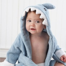 Free shipping 5 Colors100% Cuttons Hooded Animal  Baby Bathrobe Cartoon Baby Towel Character Kids Bath Robe Infant Towel(China (Mainland))