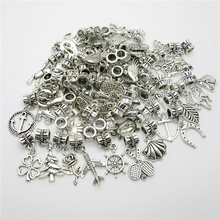 30pcs Tibetan silver Big Hole Loose Beads European Pendant Bead