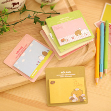 1 Pics Cute Bear Girl Notebook Sticky Notes Kawaii Stationery Post It Diary Stickers Memo Pads Paper Animal Sheet(China (Mainland))