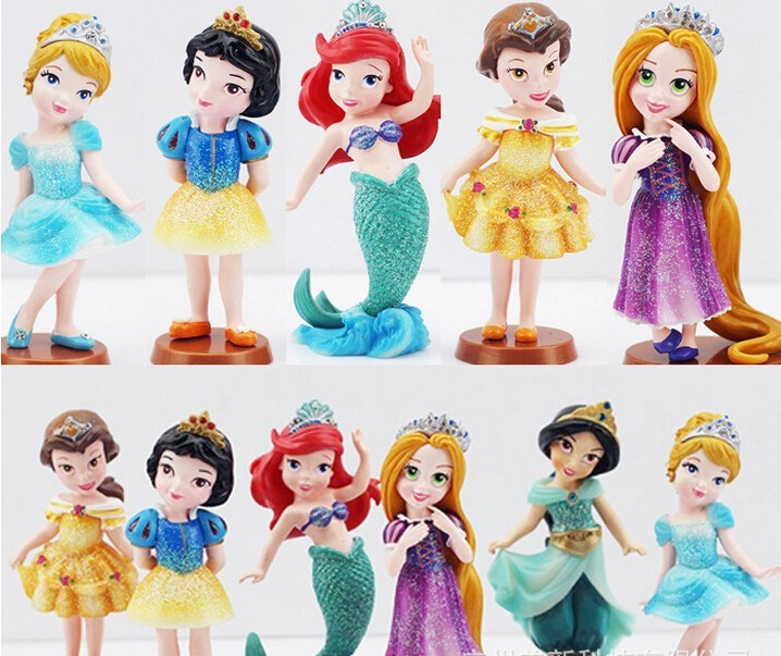 DHL/EMS free shipping 30sets/lot wholesales fashion hot sales girls Snow White Cinderella mermaid hair model hands do pvc toys<br><br>Aliexpress