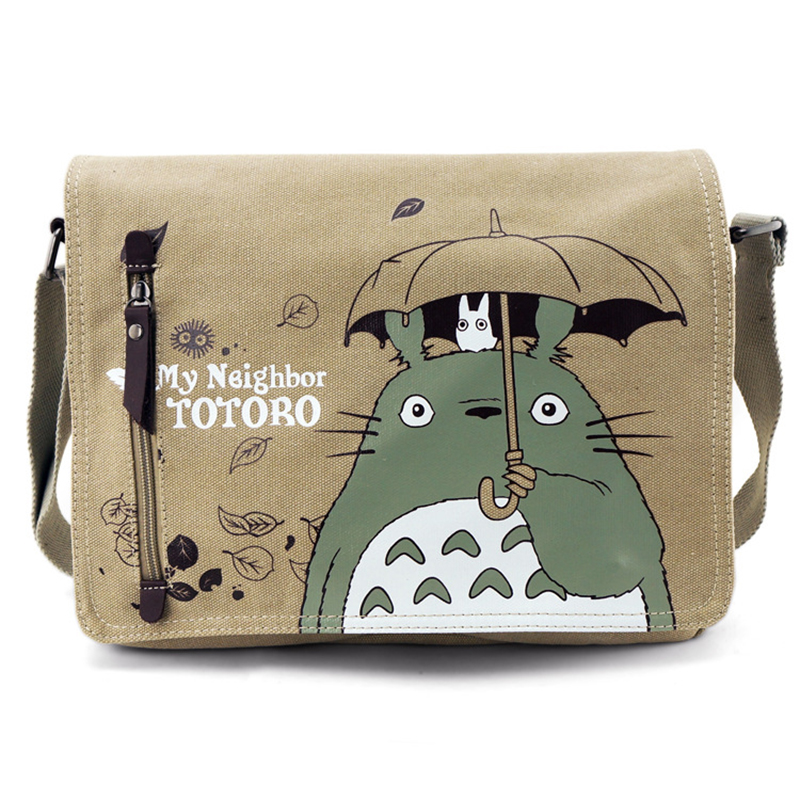 Anime My Neighbor Totoro Women Canvas Messenger Bag Shoulder Bag Sling Pack My Neighbor Totoro Handbag Cosplay Crossbody Bags(China (Mainland))