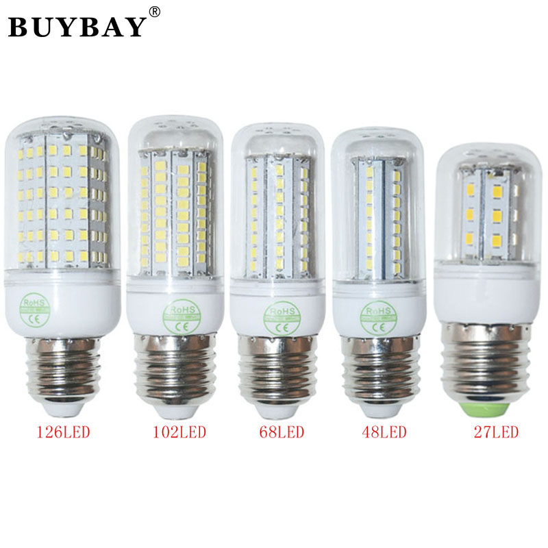 E27 high power 220V/110V christmas lights SMD2835 led bulb lamp Warm White/ white,27 48 68 102 126LEDs lighting lampada led(China (Mainland))
