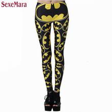 SexeMara New Batman Pattern Printed Leggings Shape Slim Casual Creative Gothic Interest Sports Fitness Women Sexy Pants BL-360(China (Mainland))
