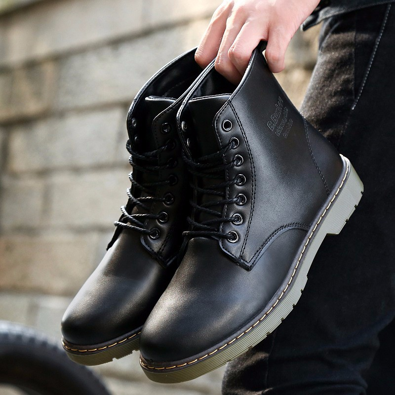 New Arrival Ankle Boots Real Leather Men Cheap Outdoor Autumn Martin Boots Men High Quality Fashion Shoes Mens Zapatillas Hombre