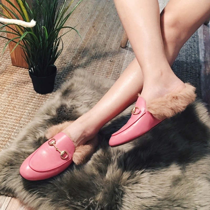 Feathers sapatos femininos flat shoes woman Comfortable Round Toe spring flats Loafers Rubber Grain Leather woman party shoes