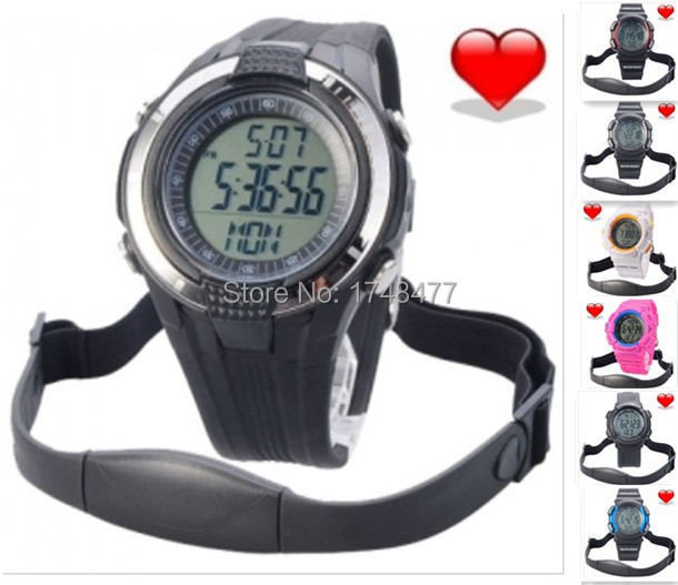 18 colors Wireless Heart Rate Monitor Step counting, calorie, Sport Waterproof Fitness Watch with Pedometer for Runningipping(China (Mainland))