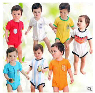 Free shippment Baby National team Soccer baby onesie romper 2015 16 Customized football jumper baby suit for infant Baby 0-12M(China (Mainland))