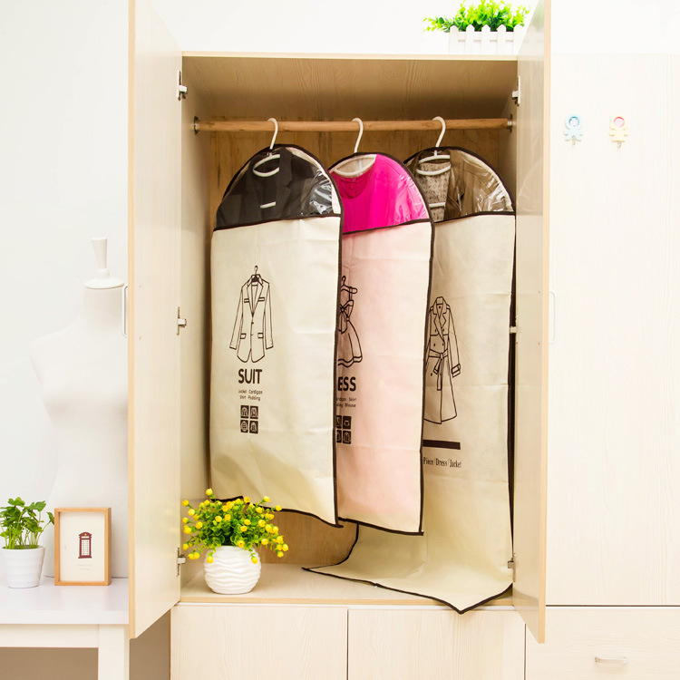 three sizes dress suit outer clothes hanging garment cover case bag for weeding dress dustproof. Black Bedroom Furniture Sets. Home Design Ideas