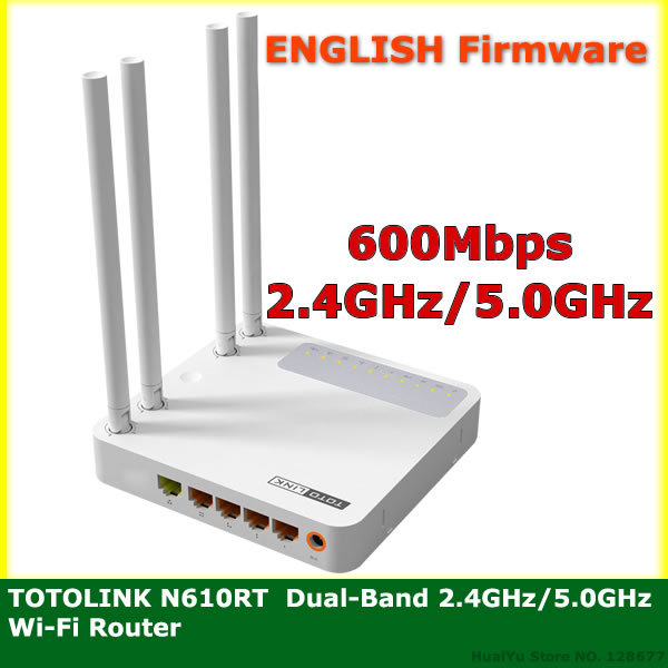 Totolink N610RT Wireless Router Wi Fi Router 2.4GHz & 5GHz 600Mbps Wi-Fi Repeater Qos Bridge Mode Wireless N Dual-Band Router(China (Mainland))