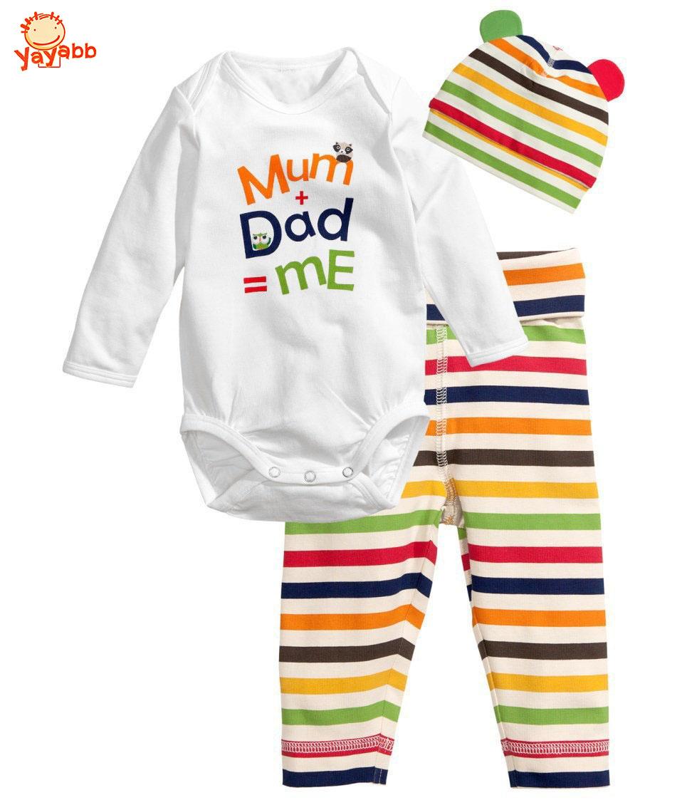 2016 Fashion Summer Baby Boy Suit Newborn Baby Girls Clothes Roupas De Bebe Jumpsuit Baby Clothing Set(Romper+Hat+Pants)(China (Mainland))