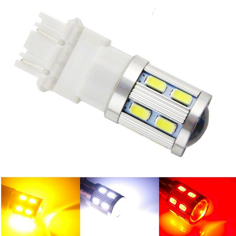 3157 3156 led High Power 16 SMD 5730 LED Amber Yellow Turn Signal White P27W T25 car bulbs Red P27/7W Car Light Source lamp 12v(China (Mainland))