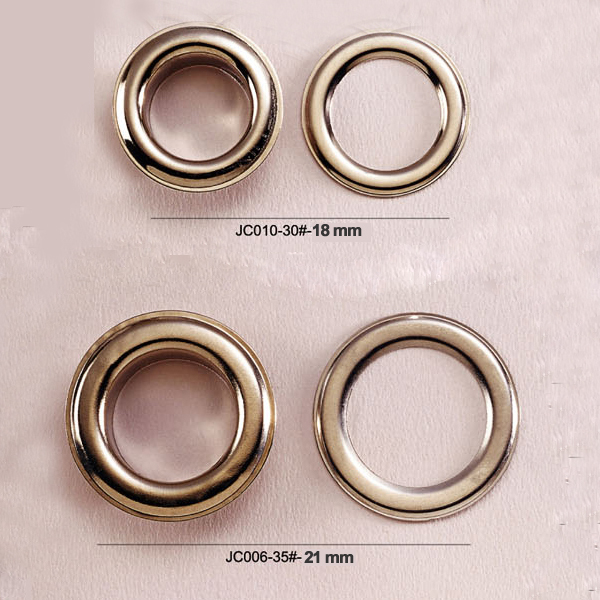 big round metal brass eyelets with washer metal grommets nickle plating color JY-004(China (Mainland))