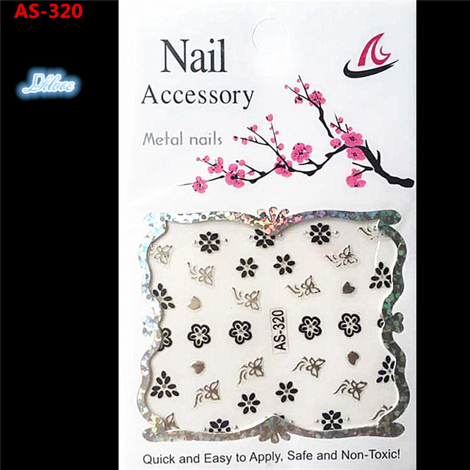 1 a black and white nail stickers Decorative pattern design adornment art nail accessories Women beautiful nail tools AS - 320(China (Mainland))