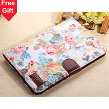 Mini2 New Arrival Flower Leather Case with Card Holders for Apple iPad mini 2 with Retina Display, Fit for Apple iPad mini 1 2(China (Mainland))