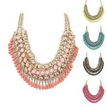 2015 New Fashion Bohemia Knitting Necklace Choker Collar Necklace Fine Jewerly For Women Necklace(China (Mainland))