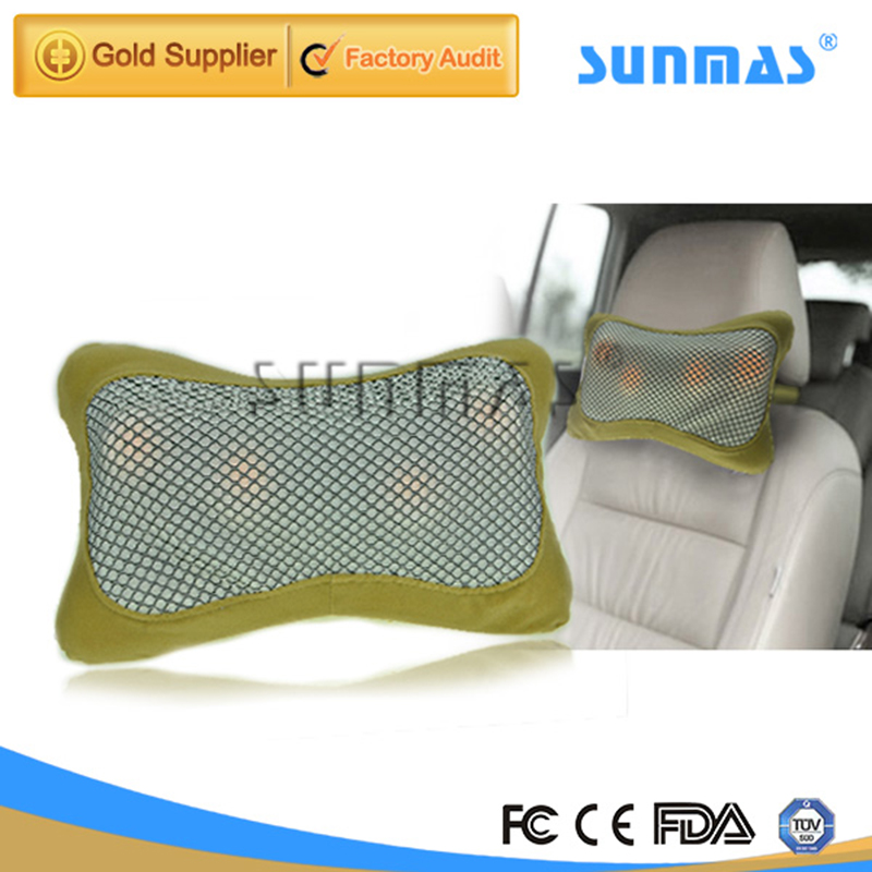 SUNMAS SM9130 Multifunctional Infrared Electric Massage Pillow Car Massage Seat Heating Shiatsu Cushion Kneading Massager(China (Mainland))
