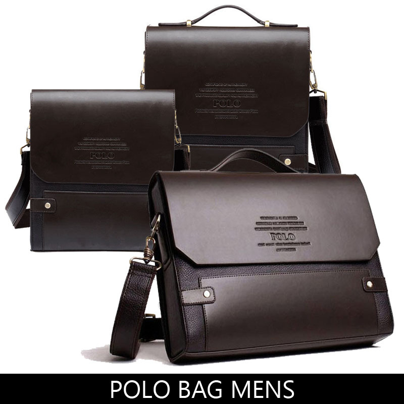 POLO bag 2015 new PU leather portfolios handbags cross body briefcase Business single shoulder bag leisure men messenger bag(China (Mainland))