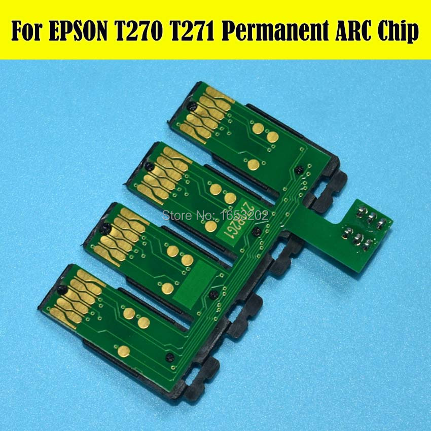 Sale !!! 1 Set Show Ink Level Auto Reset Cartridge Chip For Epson WF-7110/WF-7610/WF-7620/WF-3620/WF-3640 Printer Ciss