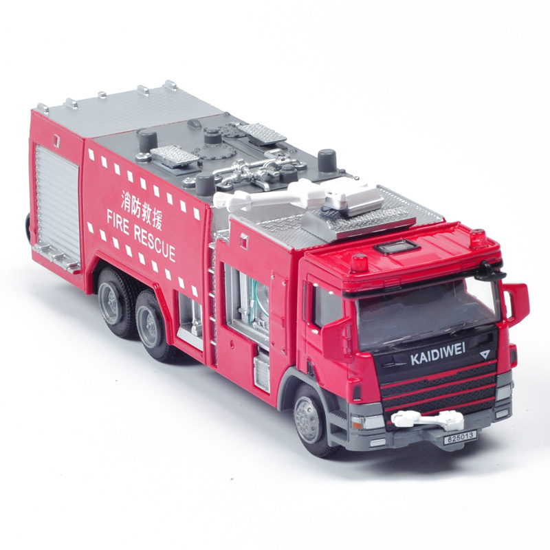 KDW Alloy Fire Vehicle Truck Model Toy Engineering Car Models Truck Diecast Classic Toys For Kids Boys(China (Mainland))