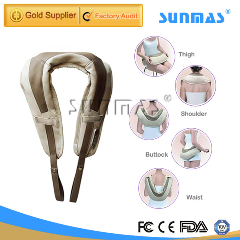 SUNMAS SM9200 Portable Massager Promote Circulation Back Pain Support zb Pain Relief Neck And Shoulder Tapping massager(China (Mainland))