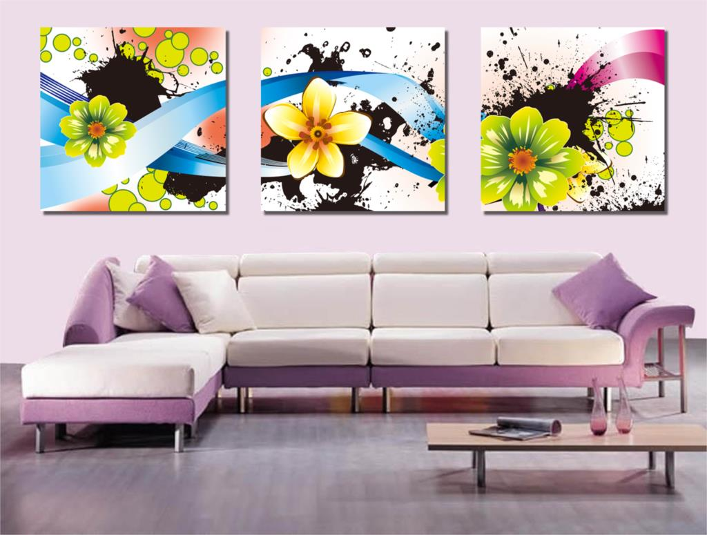 Buy 3 panel free shipping hot modern wall for Where to buy wall paint