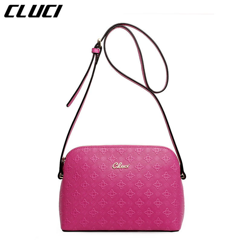 CLUCI 2016 Women Messenger Bags Cow Split Leather Flap 1 Piece Only Fashion Black Single Strap Zipper Small Shoulder Bags New(China (Mainland))