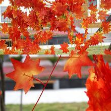 2016 Artificial Ivy Red Leaf Garland Plant Vine Fake Foliage Flower Home Festival Decor Wholesale(China (Mainland))