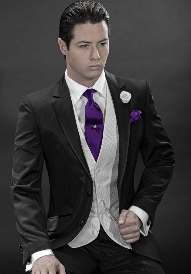 Custom Made Two Button Notch Lapel Groom Tuxedos Groomsman Men's Wedding Prom Suits  (Jacket+Pants+Vest+Tie) AAA:031
