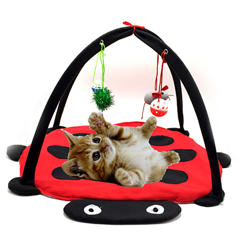 pet cat bed toys mobile activity playing bed toys cat bed
