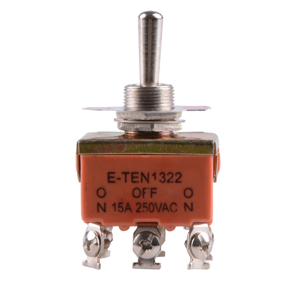 1Pc Red 6-Pin Toggle DPDT ON-OFF-ON Switch 15A 250V Mini Switches VE065 P(China (Mainland))