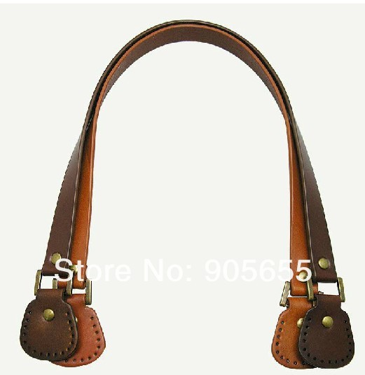 Free shipping 10pcs=5pairs/LOT wholesale Genuine Leather Bag Handle. DIY handmade handbag accessories Handle/Blet/strap Leather(China (Mainland))