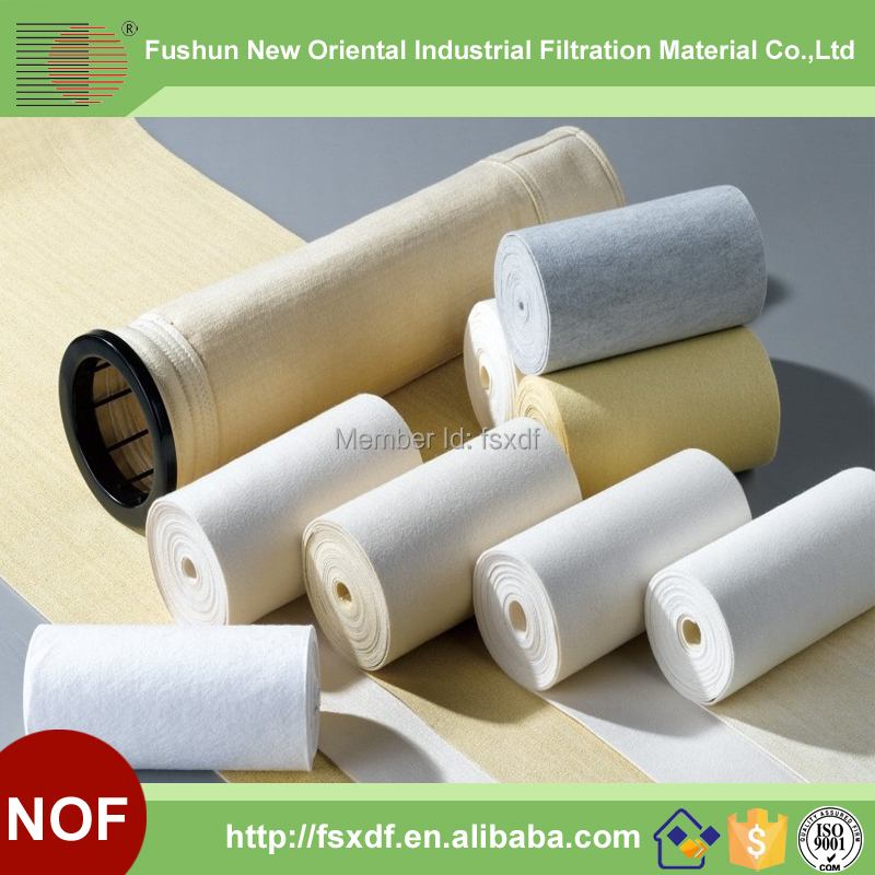 Fushun New Oriental Nonwoven needle punched Filter felt/Filter cloth for dust filter bag(China (Mainland))