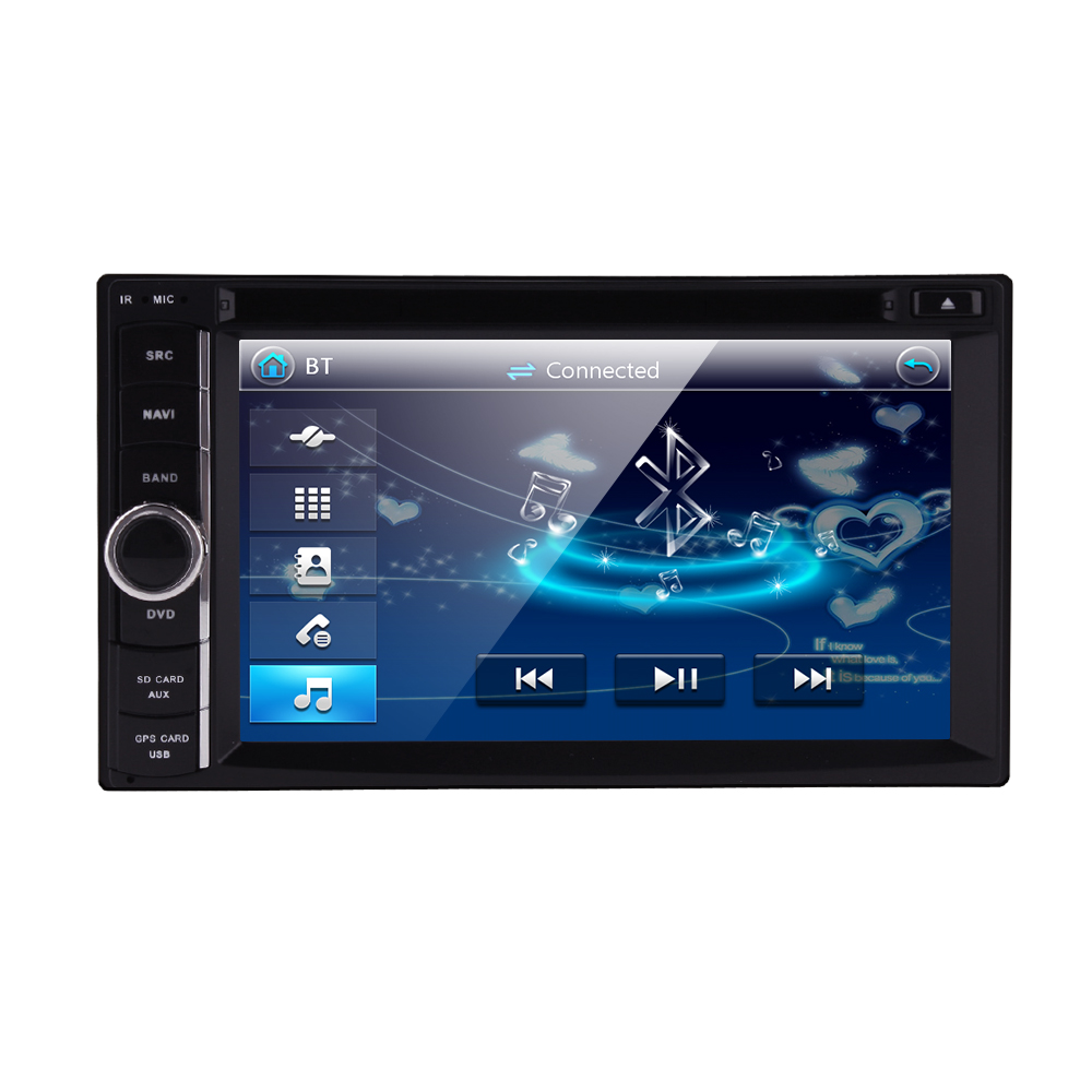 NEW Store!Car Electronic 2 din Car DVD Player GPS Navigation 6.2inch 2din Universal Car Radio In Dash Stereo Video Free Map(China (Mainland))