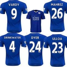 Leicester City Jersey 15 16 VARDY home blue KRAMARIC OKAZAKI ULLOA thai quality Leicester City football shirt soccer jersey 2016(China (Mainland))