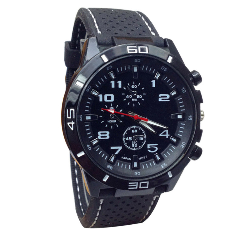 Гаджет  Newly Design 2015 Fashion Hours Quartz Watch Men Military Watches Silicone Sport Wristwatch.brand gift table None Часы