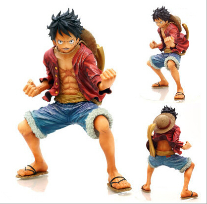 One Piece Luffy PVC Action Figure Fighting Luffy Figure One Piece Anime Collectible Model Toy Figurine One Piece Toys Juguetes(China (Mainland))