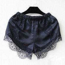 Summer New Hot 2015 Fashion Fashion Black/White Free Size Women Girl Elastic Casual Shorts High Waist Lace Short Pants