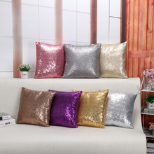 Buy Hot sale silver sequin throw pillows cushion wihout inner wedding decorative throw pillows home decor cojines almofadas#S822 for $4.18 in AliExpress store