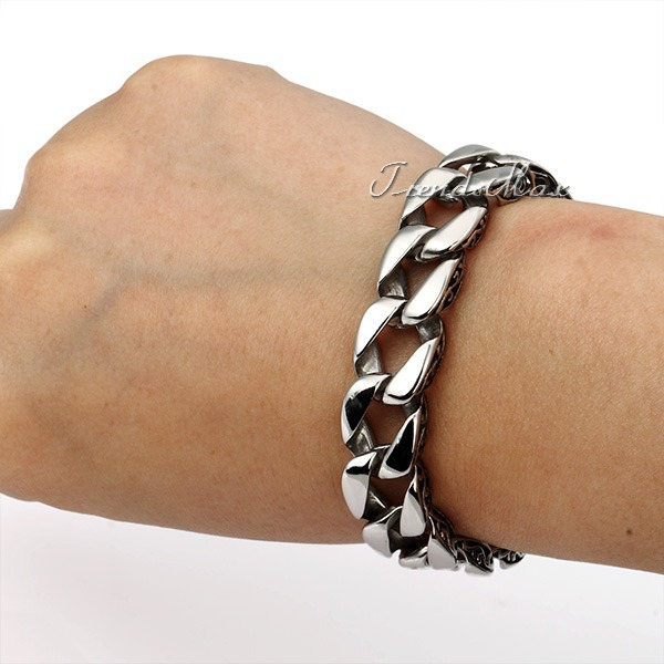 11mm 316L Stainless Steel bracelet Curb Cuban Link Chain Mens Boys fashion Wholesale Bracelet LHB30