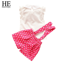 Baby Girl Children s Clothing Summer style girls dress sets petals short sleeve T shirt 3
