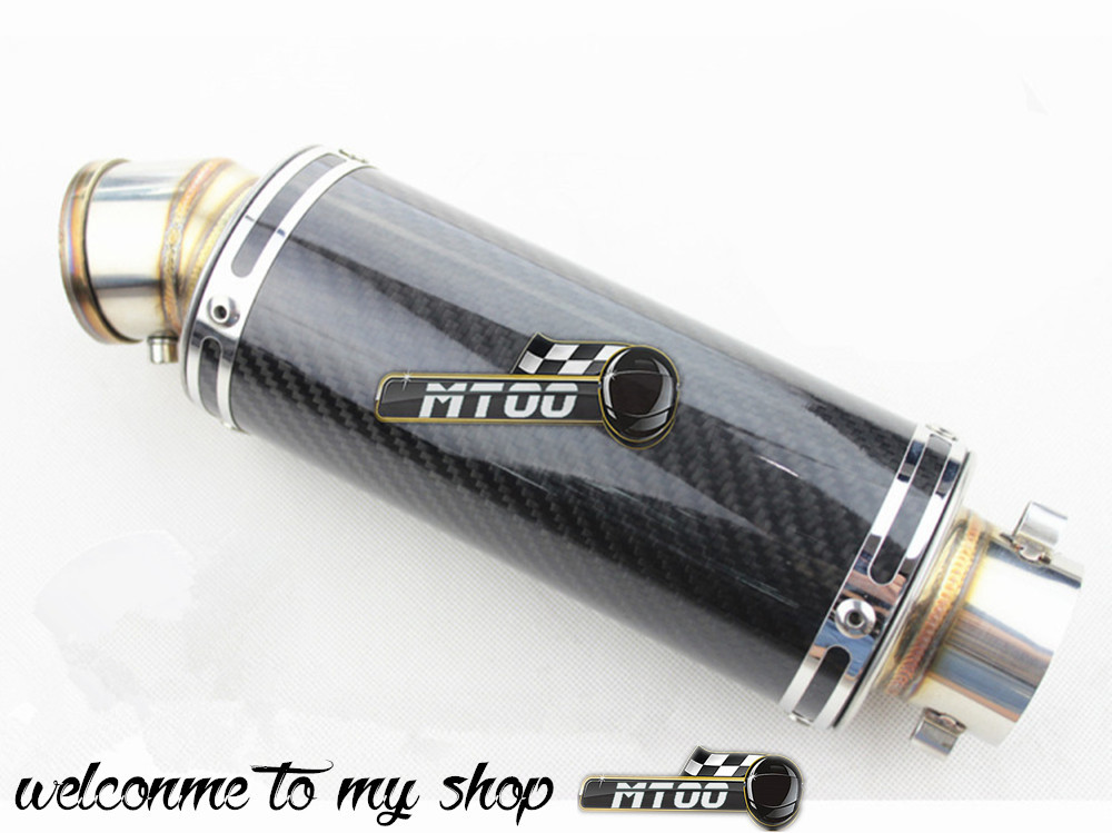 51mm Universal Modified Motorcycle Carbon Fiber Exhaust Pipe Back Pressure High Temperature Resistant Stainless Steel Muffler(China (Mainland))