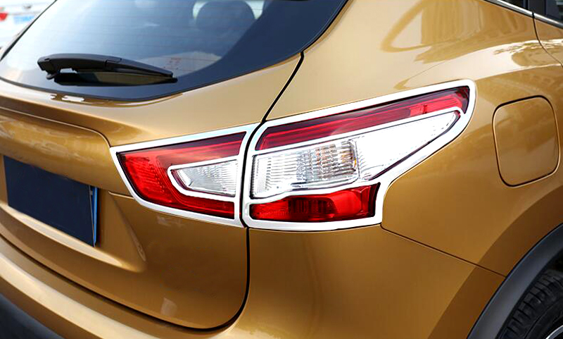 for nissan qashqai 2014 2015 2016 abs chrome exterior car rear tail light lamp cover trim glossy. Black Bedroom Furniture Sets. Home Design Ideas