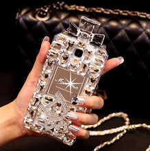 for iphone 5 5c 6 6S 6plus 6splus Luxury bling crystal perfume bottle cases For samsung galaxy note 4 3 S6edge G9200 I9600 I9500(China (Mainland))