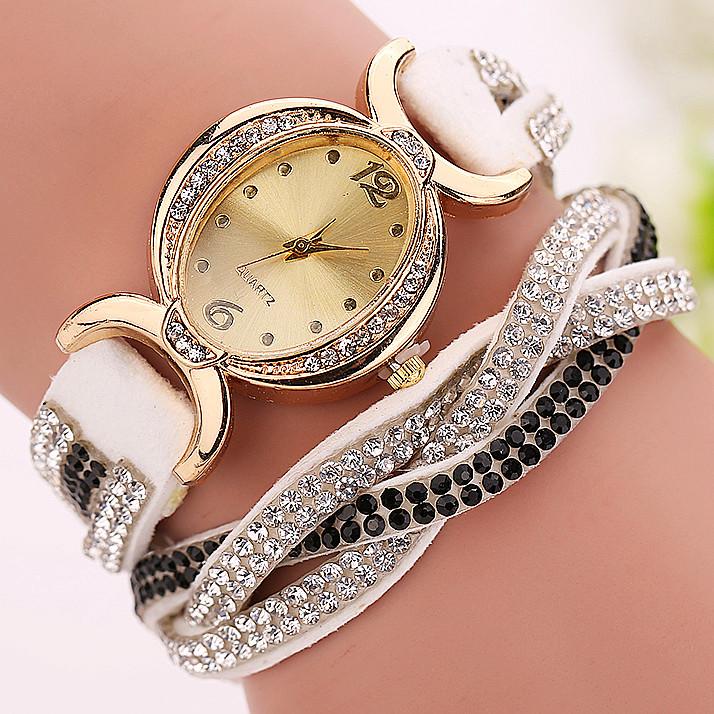Гаджет  9 colors New Fashion watches for women dress quartz watch rhinestone watches Casual relojes None Часы