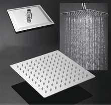 """Modern Square Chrome Stainless Steel 8"""" Rainfall Shower Head Ultra-Thin Wall Mounted Top Ceiling Mounted Showerheads(China (Mainland))"""