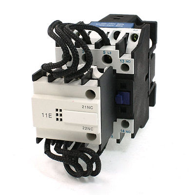 220-230V 50Hz Coil DIN Rail Mount 1NO+1NC Switch-Over Capacitor Contactor<br><br>Aliexpress
