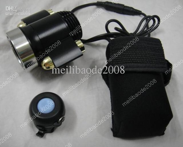 1pcs M35 3000Lm Wireless Remote Infrared Laser 2x CREE XM-L T6 LED Bicycle Bike HeadLight Headlamp