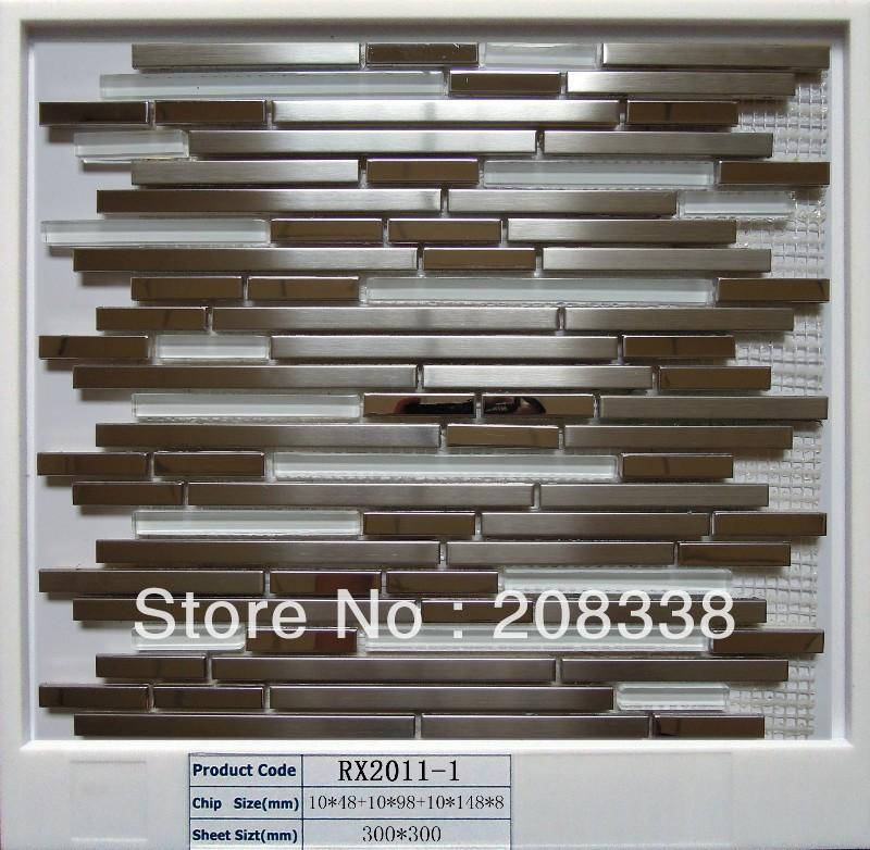 metal mosaic tiles,steel mosaic,bathroom mosaic tiles,kitchen mosaic tiles