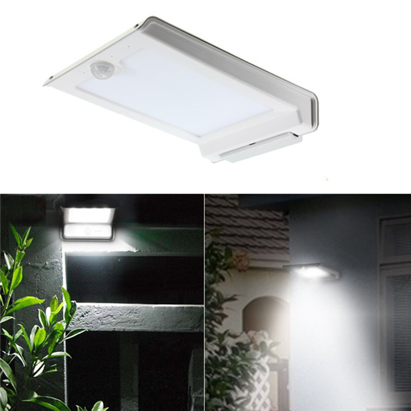 solar power motion sensor pir lamp outdoor garden wall light in solar