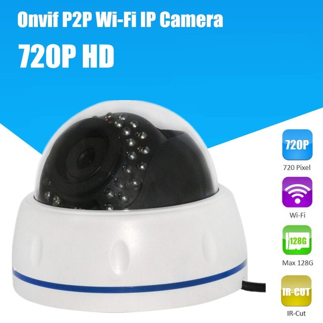 Wireless Dome IP Camera indoor 720P HD CCTV Security Video Network Surveillance IP Camera Wifi